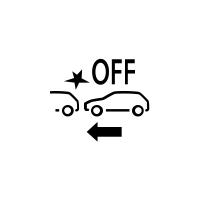 (În funcţie de vehicul) Indicatorul de defecțiune sau indisponibilitate a sistemului de frânare activă de urgenţă