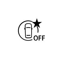 (În funcţie de vehicul) Indicatorul de defecţiune sau indisponibilitate a sistemului de frânare activă de urgenţă